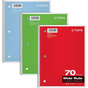 Oxford Wide Rule 1-Subject Spiral Notebook 65029 TOP65029
