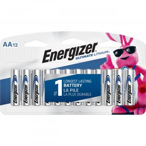 Energizer Ultimate Lithium AA Batteries L91SBP12CT EVEL91SBP12CT