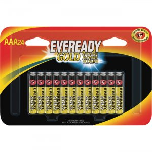 Eveready Gold Alkaline AAA Batteries A92BP24CT EVEA92BP24CT