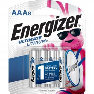 Energizer Ultimate Lithium AAA Batteries L92SBP8CT EVEL92SBP8CT