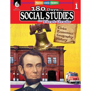 Shell Education 180 Days Social Studies Workbook 51393 SHL51393