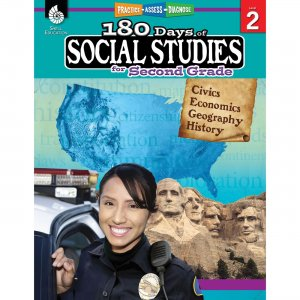Shell Education 180 Days Social Studies Workbook 51394 SHL51394