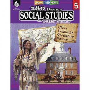 Shell Education 180 Days Social Studies Workbook 51397 SHL51397