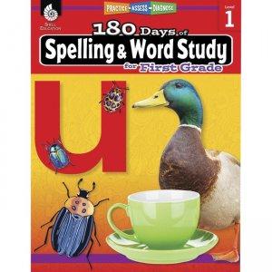 Shell Education 180 Days Spelling/Study Workbook 28629 SHL28629