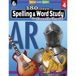 Shell Education 180 Days Spelling/Study Workbook 28632 SHL28632