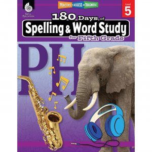 Shell Education 180 Days Spelling/Study Workbook 28633 SHL28633