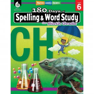 Shell Education 180 Days Spelling/Study Workbook 28634 SHL28634
