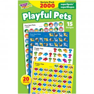 TREND superSpots superShapes Playful Pets Stickers 46929 TEP46929