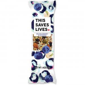 This Bar Saves Lives Wild Blueberry/Pistachio Bar 00445 TSL00445