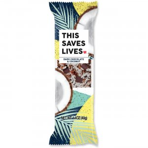 This Bar Saves Lives Dark Chocolate & Coconut Bar 00457 TSL00457
