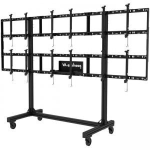"""Peerless-AV Portable Video Wall Cart 2x2 and 3x2 Configuration for 46"""" to 55"""" Displays DS-C555-3X2"""