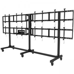 """Peerless-AV Portable Video Wall Cart2x2, 3x2 or 4x2 Configuration For 46"""" to 55"""" Displays DS-C555-4X2"""