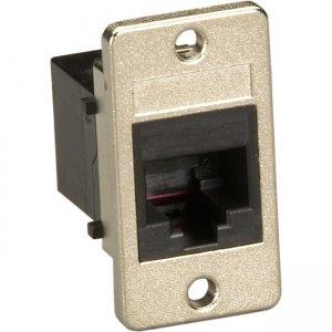 Black Box Panel-Mount Coupler - Unshielded, RJ11, 4-Wire, Black FMT1080