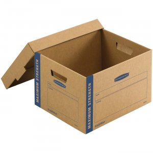 """Bankers Box SmoothMove Maximum Strength Moving Boxes, Small, 8 Pack, 10""""H x 12""""W x 15""""D 7710201 FEL7710201"""