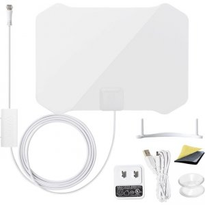 ANTOP Paper Thin Indoor HDTV Antenna | Smartpass Amplified AT-133B