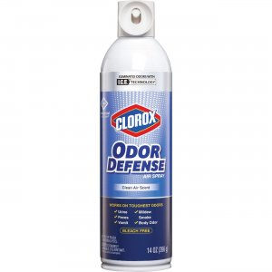 Clorox Odor Defense Clean Scent Air Aerosol Spray 31711BD CLO31711BD