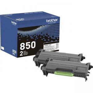 Brother Genuine High-Yield Black Toner Cartridge Twin Pack TN850 2PK TN8502PK TN-850