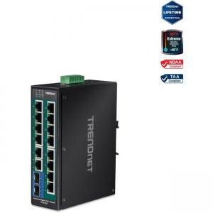 TRENDnet 16-Port Industrial Gigabit PoE+ DIN-Rail Switch TI-PG162