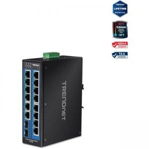 TRENDnet 16-Port Industrial Gigabit DIN-Rail Switch TI-G162