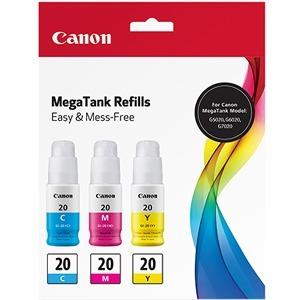 Canon CMY Ink Bottle Value Pack 3394C003 GI-20