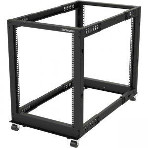 StarTech.com 15U Open Frame Rack - 4 Post - Adjustable Depth 4POSTRACK15U
