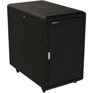 StarTech.com 18U Server Rack Cabinet - Includes Casters and Leveling feet - 32 in. Deep RK1836BKF