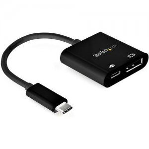 StarTech.com USB-C to DisplayPort Adapter with Power Delivery - 8K 30Hz CDP2DP14UCPB
