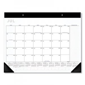 At-A-Glance Academic Monthly Desk Pad, 21.75 x 17, Black/White, 2020-2021 AAGAY24X00 AY24X00
