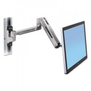 Ergotron LX HD Sit-Stand Wall Mount LCD Arm, Polished Aluminum/Black ERG45383026 45-383-026