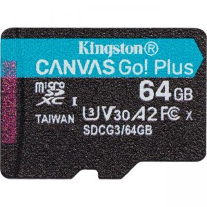 Kingston Canvas Go! Plus microSD Memory Card SDCG3/64GBSP