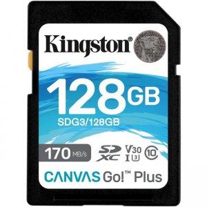 Kingston Canvas Go! Plus SD Memory Card SDG3/128GB