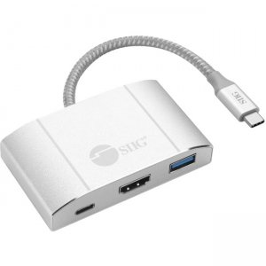 SIIG USB 3.1 Type-C Hub with HDMI & PD Charging Adapter - 4K Ready JU-H30612-S2