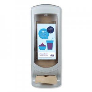 Tork Xpressnap Stand Napkin Dispenser, 9 1/4 x 9 1/4 x 24 1/2, Gray TRK6334000 6334000
