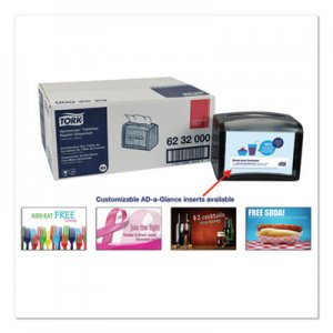 Tork Xpressnap Tabletop Napkin Dispenser, 7.9W x 5.9D x 6.1H, Black TRK6232000 6232000