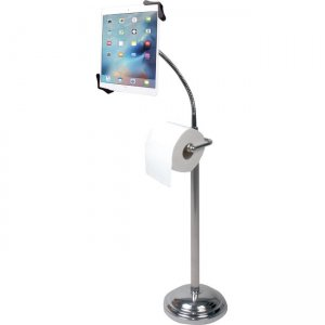 CTA Digital Pedestal Stand for iPad with Roll Holder PAD-TSBU