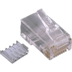 ENET Category 6 Modular Plug, for Solid Wire with Insert, 50u, 100Pcs/Bag C6S0-CONN-100PK