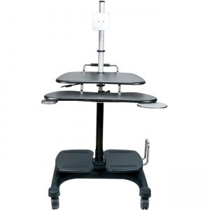 Aidata Sit and Stand Mobile LCD Workstation with Monitor Mount LDC003P