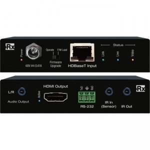 Key Digital 4K/18G HDBaseT Rx (40m) with L/R Audio De-Embed, IR, RS-232 KD-X40MRX