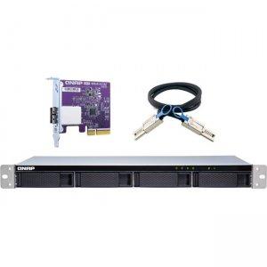 QNAP High-performance Short-depth Rackmount SATA 6GB/s JBOD Storage Enclosure TL-R400S-US TL-R400S