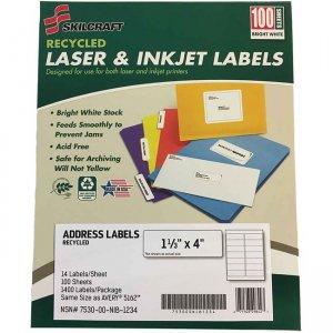 SKILCRAFT Recycled Laser/Inkjet Address Labels 6736513 NSN6736513