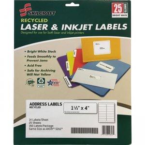 SKILCRAFT Recycled Laser/Inkjet Address Labels 6736514 NSN6736514