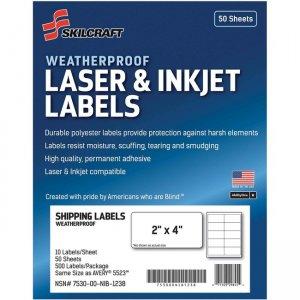 SKILCRAFT Laser/Inkjet Weatherproof Mailing Labels 6736220 NSN6736220