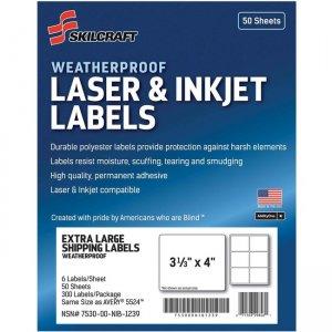 SKILCRAFT Laser/Inkjet Weatherproof Mailing Labels 6736217 NSN6736217