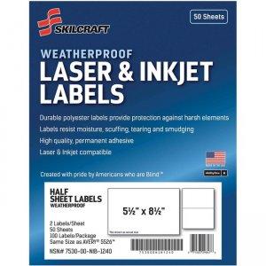 SKILCRAFT Laser/Inkjet Weatherproof Mailing Labels 6736219 NSN6736219