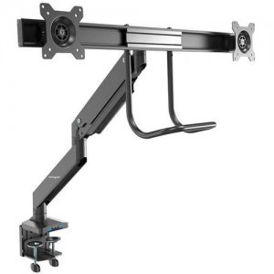 StarTech.com Desk Mount Dual Monitor Arm - 2x USB 3.0 Ports - Grommet/Desk Clamp Mount ARMSLIMDUAL2USB3