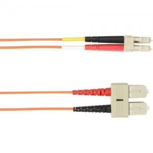Black Box 4-m, SC-LC, 62.5-Micron, Multimode, PVC, Orange Fiber Optic Cable FOCMR62-004M-SCLC-OR