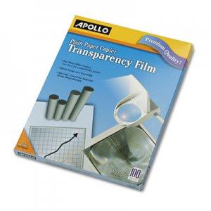 Apollo Plain Paper B/W Laser Transparency Film, Letter, Clear, 100/Box APOPP100C VPP100CE-A