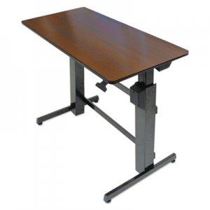 WorkFit by Ergotron WorkFit D Sit-Stand Workstation, 47.63w x 23.5d x 50.63h, Walnut/Black ERG24271927 24