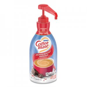 Coffee mate Liquid Coffee Creamer, Peppermint Mocha, 1500mL Pump Bottle NES29600 28000 29600