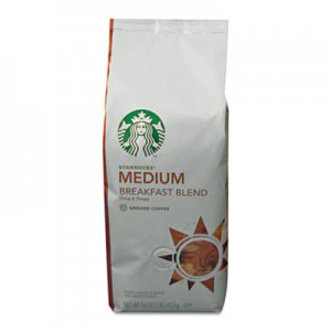 Starbucks Coffee, Breakfast Blend, Ground, 1lb Bag SBK11018185 11018185